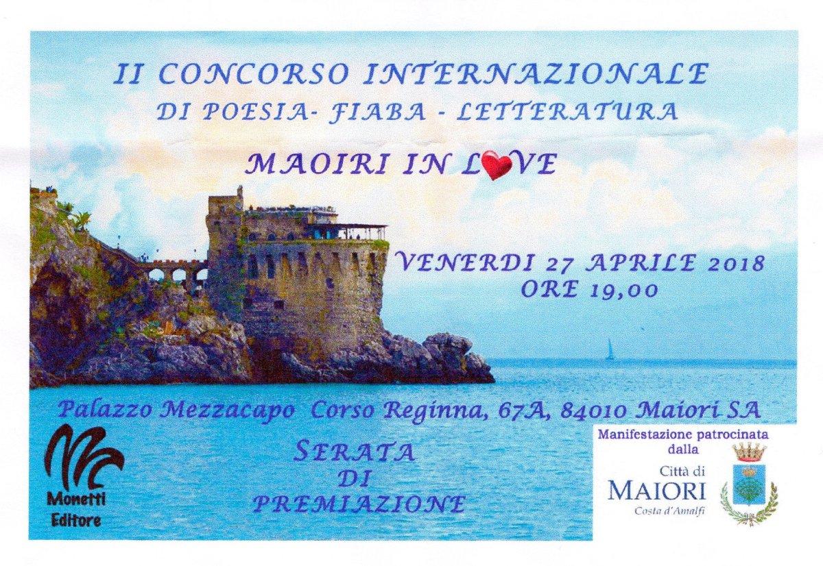 """II concorso Internazionale di Poesia – Fiaba – Letteratura """"Maiori inLove"""""""