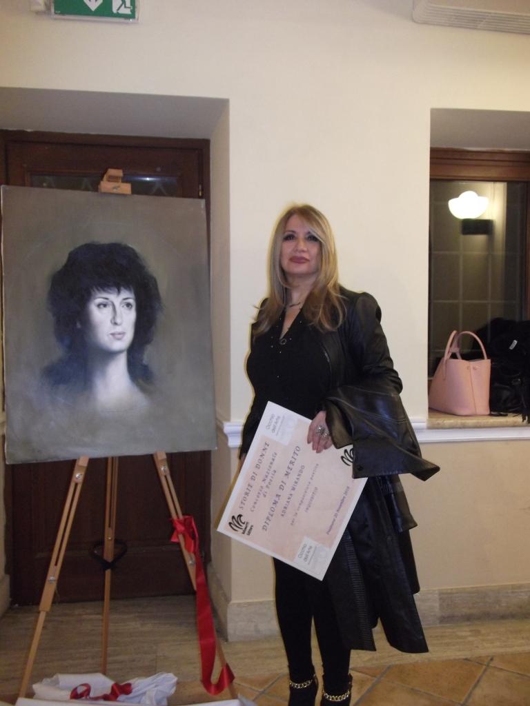 Anna Magnani dipinta dal celebre pittore Mario Russo